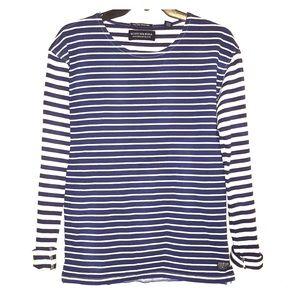 Scotch & Soda blue/off white nautical sweater/top
